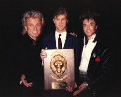 James Cielen with Siegfried & Roy superstar magicians and illusionists